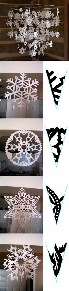 DIY Snowflake Muster Papier DIY Projects