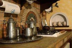 Cucine in muratura rustiche e moderne - Dettaglio fornello di una cucina in muratura