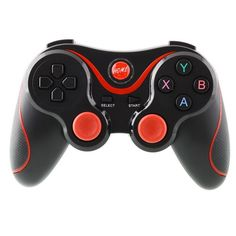 T3 Wireless Bluetooth Game Gamepad Controller Joystick Black+Red For Smart Android Phone Samsung Tablet PC