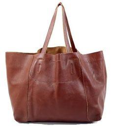 Plain Leather Tote Bag