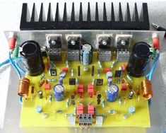 70W High Power Amplifier with MOSFET - Schematic Design