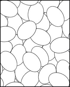 AT FIRST GLANCE THIS COLORING SHEET LOOKS REALLY BORING - JUST A BUNCH OF EGGS THROWN TOGETHER - BUT THEN - WHEN YOU THINK ABOUT THE POSSIB...
