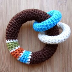 """DIY Crochet Baby Toy *in link Click on the green """"Fun Crochet Project"""""""