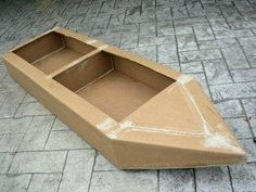 How to Build a Cardboard Boat - we're going to adapt this for an Olympic themed fancy dress costume - Coxless Pairs!