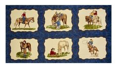 Cowgirl Country Fabric Panel Moda Premium Cotton #ModaFabrics
