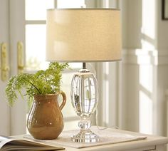 Lexington Crystal Table Lamp Base | Pottery Barn 270.00 Love, love this lamp...adds sparkle, pricey