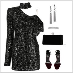 New Year Eve Outfit | ShopLook Nye Outfits, New Years Eve Outfits, New Years Eve Party, Outfit Maker, Jimmy Choo, How To Wear, Outfit Ideas, Bts, Dresses