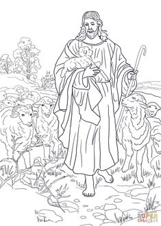 Coloring Pages Sheep And The Shepherd Jesus Holding Lamb Coloring Page Free Printable Coloring Pages. Coloring Pages Sheep And The Shepherd Jesus The . Jesus Coloring Pages, Online Coloring Pages, Free Printable Coloring Pages, Coloring Pages For Kids, Coloring Sheets, Coloring Books, Coloring Pages Inspirational, The Good Shepherd, Jesus Pictures