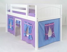 Low Loft Bunk Bed Curtain-FREE SHIPPING
