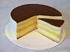 Pruhovaný dort s vaječným likérem Vanilla Cake, Cheesecake, Food, Cheesecakes, Essen, Meals, Yemek, Cherry Cheesecake Shooters, Eten