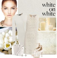 """""""White on white"""" by pantherstyle ❤ liked on Polyvore"""