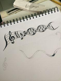 Super Music Tattoo Creative Design 17 Ideas - Super Music Tattoo Creative Design 17 Ideas Informations About Super Music Ta - Dna Tattoo, Body Art Tattoos, New Tattoos, Tatoos, Tattoo Celtic, Tattoo Arm, Violin Tattoo, Storm Tattoo, Faith Tattoos