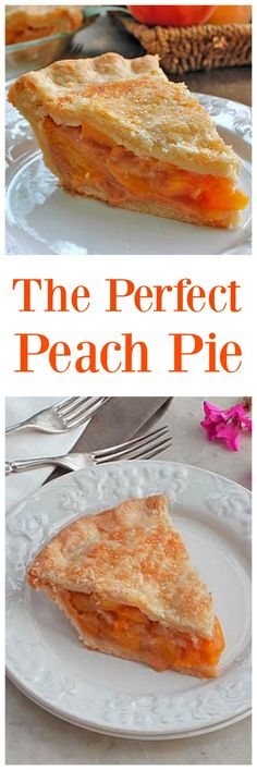 The Perfect Peach Pie is amazing! The fresh peach flavor is up front and delicious, the natural sweetness of the peaches comes shining through to perfection via @https://www.pinterest.com/BunnysWarmOven/bunnys-warm-oven/