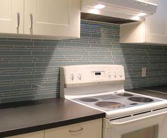Jasper Blue Linear Glass Mosaic Tiles   Rocky Point Tile - Online Glass Tile and Glass Mosaic Tile Store