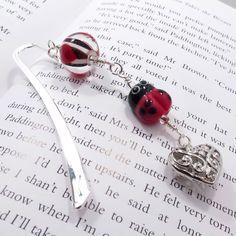 Love Bug handmade lampwork beaded bookmark. £10.00