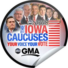 GMA at the Iowa Caucus Sticker | GetGlue