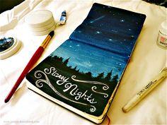 Jenny's Sketchbook: Gratitude Journal - Sitting Under the Stars