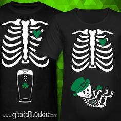 Couples' T-shirts for mom & daddy to be for St. Patrick's Day.