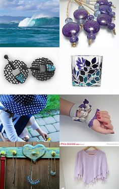 Blue and Purple by Annie on Etsy--Pinned with TreasuryPin.com