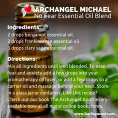 archangel michael no fear essential oil blend