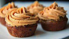 """Fresh Banana Chocolate Chip Muffins with Peanut Butter Cream Cheese Frosting """"You Can't Buy Happiness, But You Can Buy Cheesecakes, And That's Kind Of The Same Thing!"""" Contact: chrissyssweettreats.yum@gmail.com"""