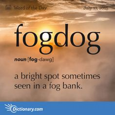 fogdog - Word of The Day | Dictionary.com
