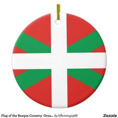 Flag of the Basque Country  Ornament