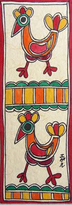 Madhubani Art : Punjabi Village Inspired Madhubani Bookmarks #6