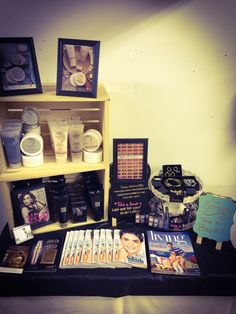 Need help with sales? Attend a show and sell avon! Here is my table at one of my shows! Www.youravon.com/jamieharris. Contact me for ideas! Jamieharris808@live.com