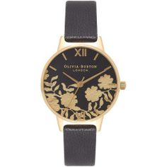 Women's Olivia Burton Lace Detail Leather Strap Watch, 30Mm