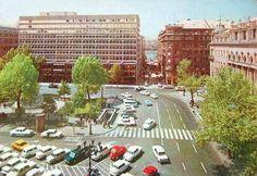 """Az """"Elizélt palota"""", vagyis az ORI székház - 1972  Vörösmarty tér mienkahaz.blog.hu Budapest, Past, Dolores Park, Street View, City, Travel, Theater, German, Action"""