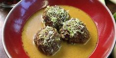 Try this Meatballs in Fragrant Coconut Broth recipe by Chef Gordon Ramsay. This recipe is from the show Gordon's Ultimate Cookery Course.