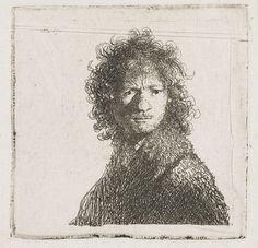 Rembrandt Harmensz. van Rijn | Self-Portrait, Frowning: Bust, Rembrandt Harmensz. van Rijn, 1630 |