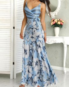 Floral Print Wrapped Tied Side Maxi Dress dresses to wear to a wedding dresses short dress outfit dress dress dresses modest dresses fall dresses Trendy Dresses, Modest Dresses, Fall Dresses, Short Dresses, Summer Dresses, Formal Dresses, Summer Maxi, Dress Long, Dress Outfits