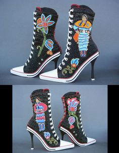 Reminds me of come cool converse that were made tribal at a recent tribal conference.