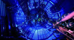 Vista del núcleo del reactor RA-6, construido para la carrera de ingeniería nuclear del Balseiro.