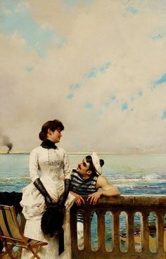 When Love is Young by Vittorio Matteo Corcos, 1883.