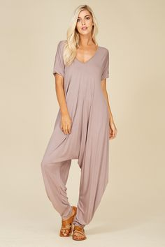 7adb5e5622d2 Short Sleeve Jumpsuit with Side Pockets