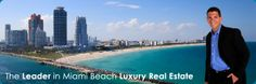 Miami Beach Real Estate Agent pictured with Miami Beach Waterfront Condo Buildings