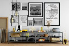Vancouver Gallery Wall...had this when I lived in the City. Still love it but doesn't fit my country life now.