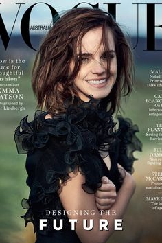 Emma Watson introduces the March 2018 issue of Vogue Australia