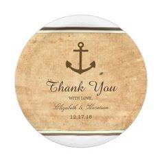 #vintage - #Nautical Anchor Framed Vintage Paper Wedding Paper Plate