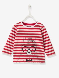 T-shirt bébé garçon Rouge raye - vertbaudet enfant