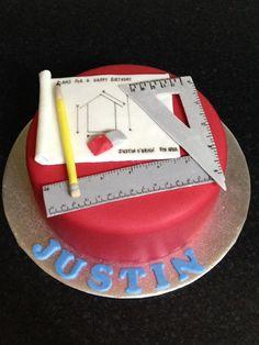 Architect cake theme for a architect