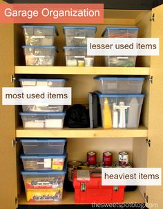 Garage Organization by The Sweet Spot Blog http://thesweetspotblog.com/garage-organization/ #organization #garage #decor #cabinets