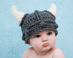 *** This listing is for a INSTANT DOWNLOAD CROCHET PATTERN.***  You are not buying a finished product. If you would like to order this finished hat, click here https://www.etsy.com/listing/185427307/viking-baby-hat-knight-toboggan-beanie?ref=shop_home_active_7     This adorable Viking hat is quick and easy to make and will look wonderful on you or your little one. Included in this pattern are instructions for making the beard.   Hats also make great costumes, gifts and photography props. My…
