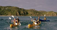 Kayaking in the Tasman Sea