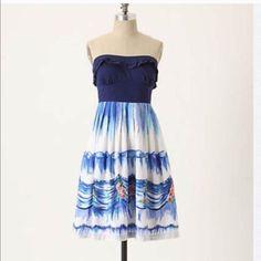 Anthropologie Natalie Lete Paris Strapless Dress