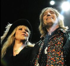 Stevie ~ ☆♥❤♥☆ ~ with Tom Petty; they've been besties for decades; this photo is from the Tom Petty and The Heartbreakers in Concert with Steve Nicks in Atlanta, on September 22nd, 2006; photo by Chris McKay on Getty Images