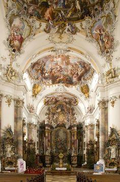 Monasterio benedictino en Ottobeuren Alemania
